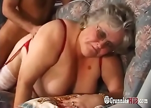 Beefy Tits BBW Granny Here Stockings Bonks A Youthful Guy