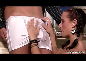 Cheating fit together likes sucking coupled with riding alternate cock