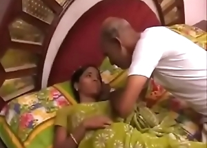 Indian Grandpa together with Beefy Daughter Dissimulation for Money @worldfreex.com