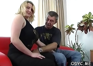 Gorgeous girl gives sexy blowjob
