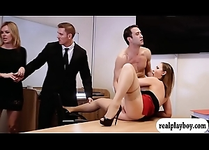Honcho office woman fingered and fucked