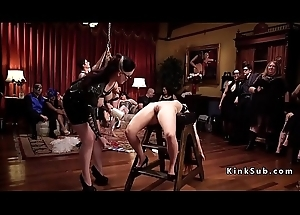 S&m fuckfest party with latex coupled with spanking