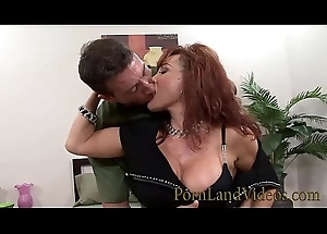 redhead slutty mom Sexy Vanessa likes big young dicks