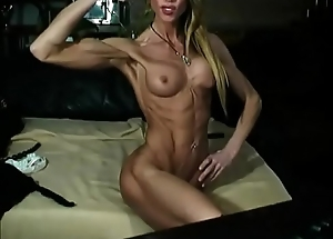 Undernourished Athletic MILF Out of reach of Webcam