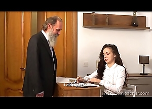 Tricky Aged Teacher - Aged bus connected with her beautiful natural boobs Milana Witchs