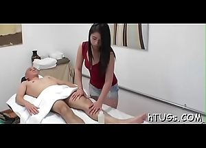 Girl gets payed to rub him off