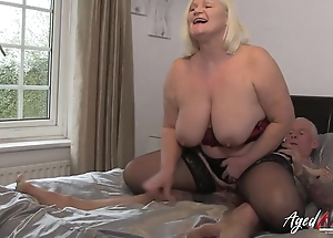 Of age BBW in lingerie enjoys bumptious cock for a hunk
