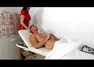 Sexy fat boobs latex nurse fucks patients fat hard cock