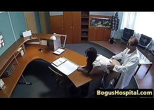 European babe doggystyled off out of one's mind her doctor