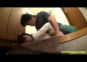 Japanese teen Yuzu is molested and factitious  in an elevator