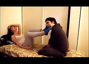 Asian girl receives her socks and feet worshipped - wait for less on xfetish.net