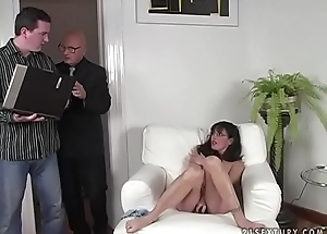 Brunette MILF receives screwed hard